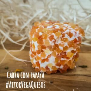 Queso de cabra con papaya
